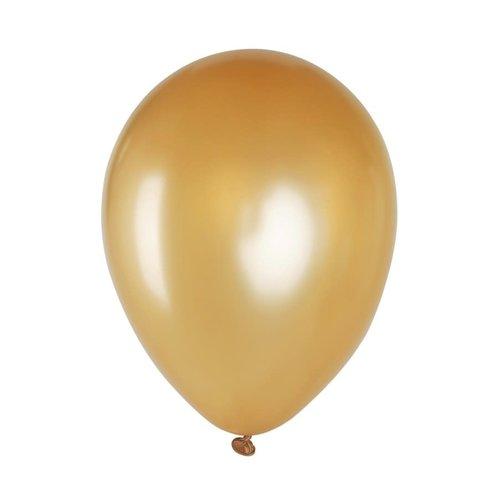 Ballon metallic goud, 12inch per 8st