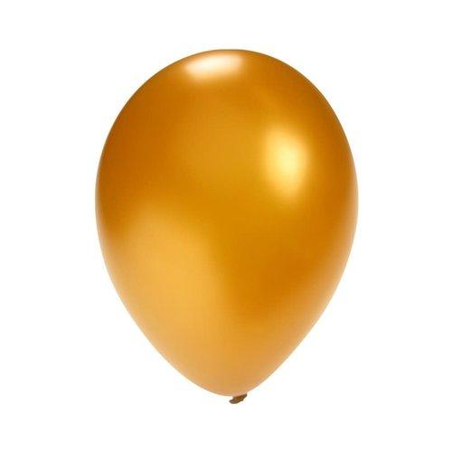 Ballonnen metallic goud mt 5inch/12cm per 100st