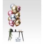Ballonnen Mirror Effect Morganite 33cm - 12st
