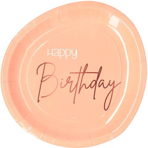 Borden Happy Birthday Elegant Lush Blush 23cm per 8st