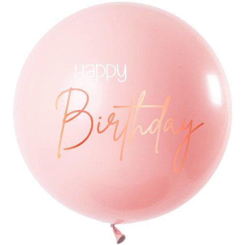Ballon Elegant Lush Blush Happy Birthday 80cm