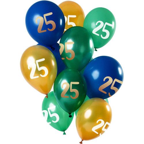 Ballonnen Golden Emerald 25 jaar 12inch/30cm per 12st