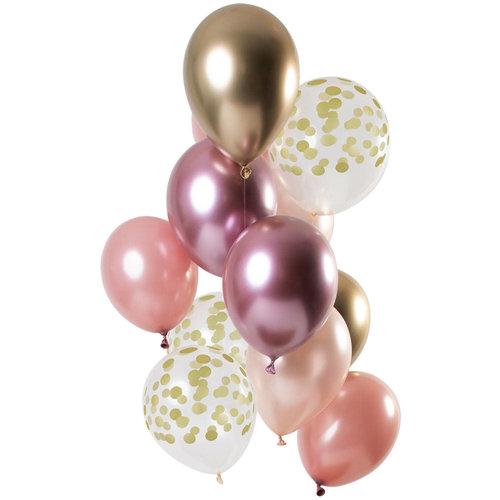 Ballonnen Golden Blush, 12inch/30cm per 12st