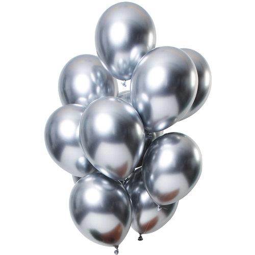Ballonnen Let it Shine Zilver, 13inch/33cm per 12st