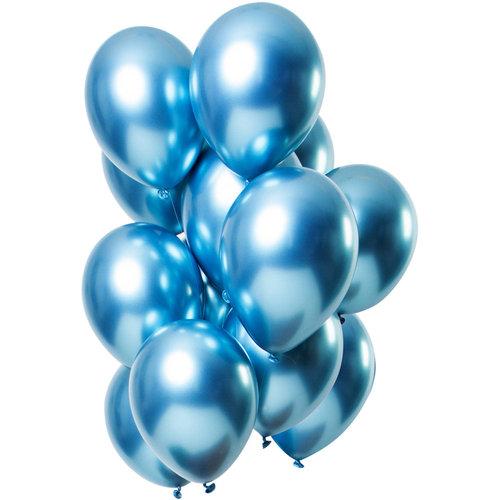 Ballonnen Let it Shine Blauw, 13inch/33cm per 12st