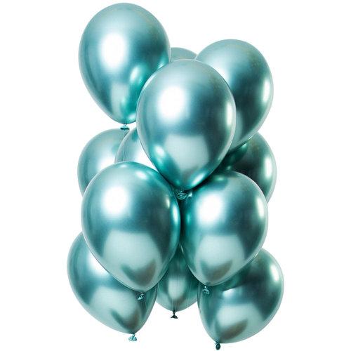 Ballonnen Let it Shine Groen , 13inch/33cm per 12st