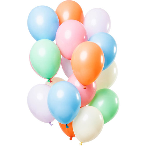 Ballonnen Pretty Pastels, 12inch/30cm per 15st