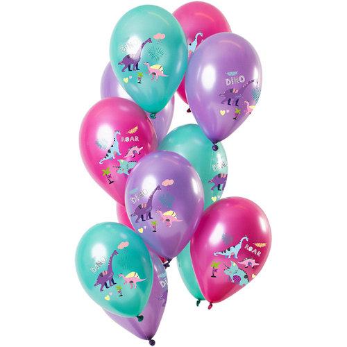 Ballonnen Dino Candy, 12inch/30cm per 12st