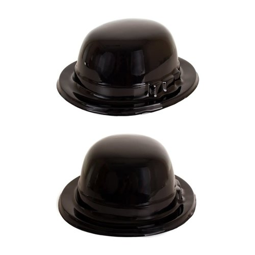 Bolhoed zwart plastiek one size