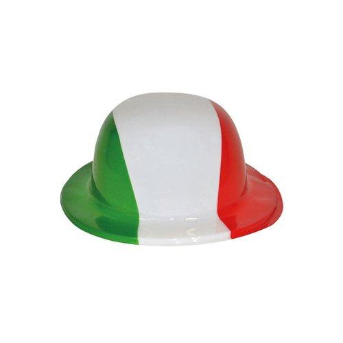 Bolhoed plastiek rood/groen/wit