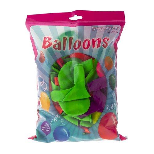 Ballonnen Fluo ass 12inch (30.5cm) 100st