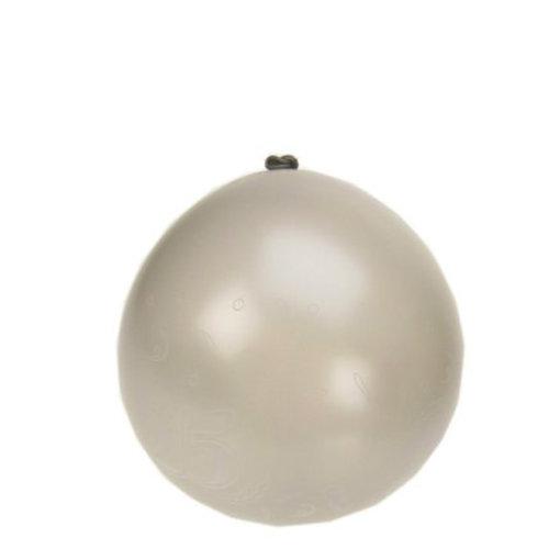 Ballon 25 zilver mt 12 (32cm) 8st