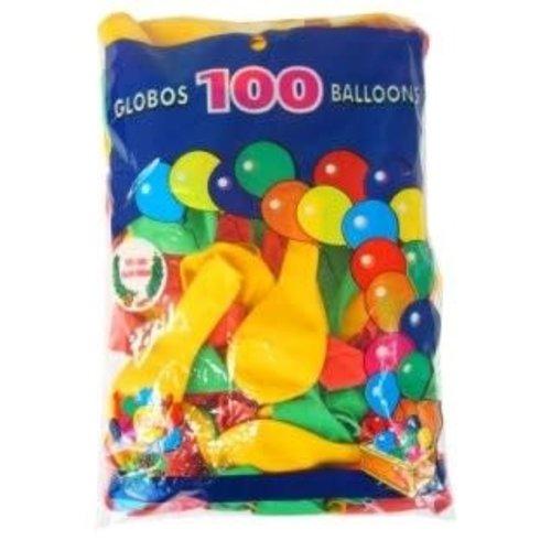 Ballonnen rd/gl/gr helium per 100st mt 10