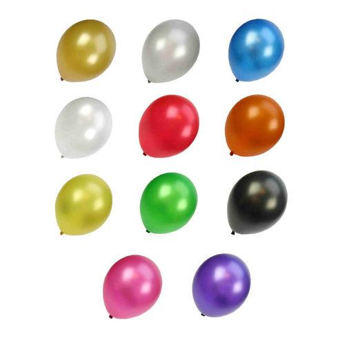 Ballon metalic kl ass, 50st mt 14/36cm