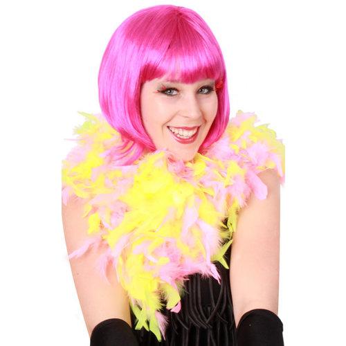 Boa neon geel/roze 75gr 180cm
