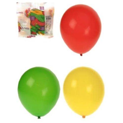 Ballon helium rd/gr/gl 10 inch 50 st.