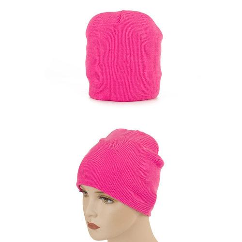 Beanie/Ijsmuts fluo roze