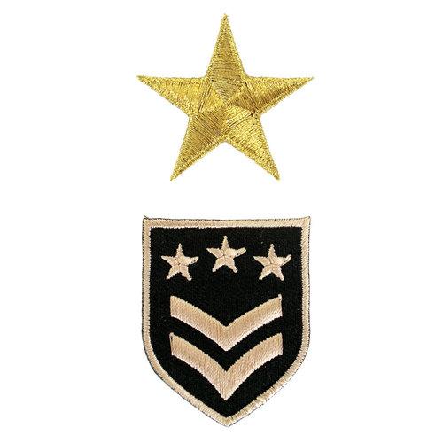 Strijkapplicatie 'Army sterren en patch'