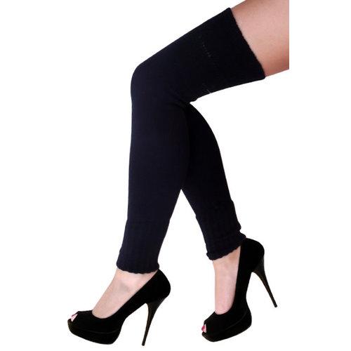 Beenwarmers over-knee zwart