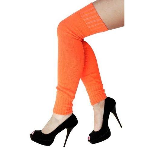 Beenwarmers over-knee  fluo oranje one size