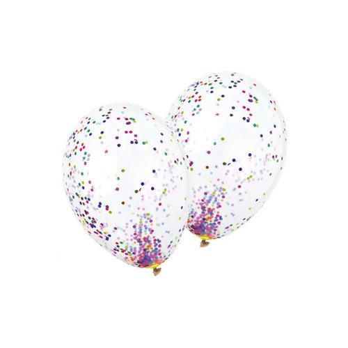 Ballon transparant met confetti, 36inch per 5st