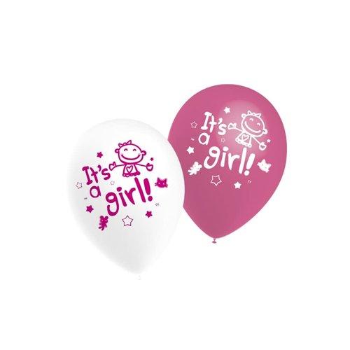 Ballonnen It's a Girl, 11inch/ per 10st