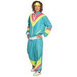 Boland Trainingspak Retro Dude neonblauw + bandana