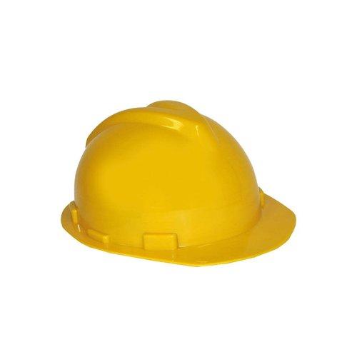 Bouwvakkershelm verstelbaar geel