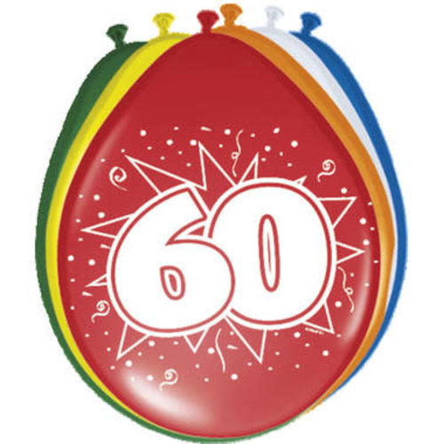 Ballons '60 jaar',30cm 8st