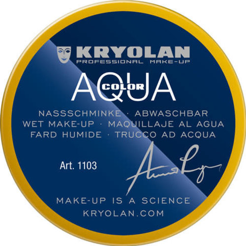 Aquacolor waterschmink 55ml kleur 509 diep geel
