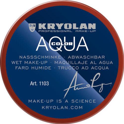 Aquacolor waterschmink 55ml kleur 075 roodbruin