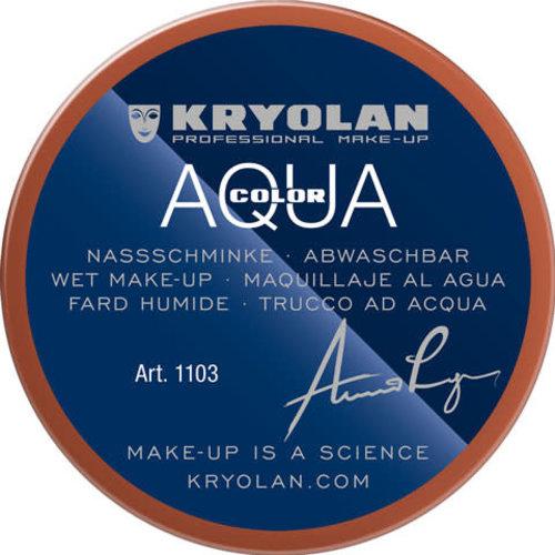 Kryolan Aquacolor waterschmink 55 ml, kleur 017 bruin