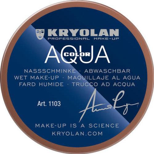 Aquacolor waterschmink 55 ml, kleur 8W bruin