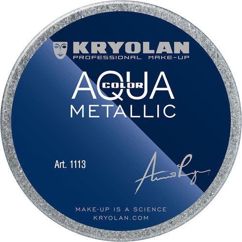 Aquacolor waterschmink metallic 55ml SILVER BLUE