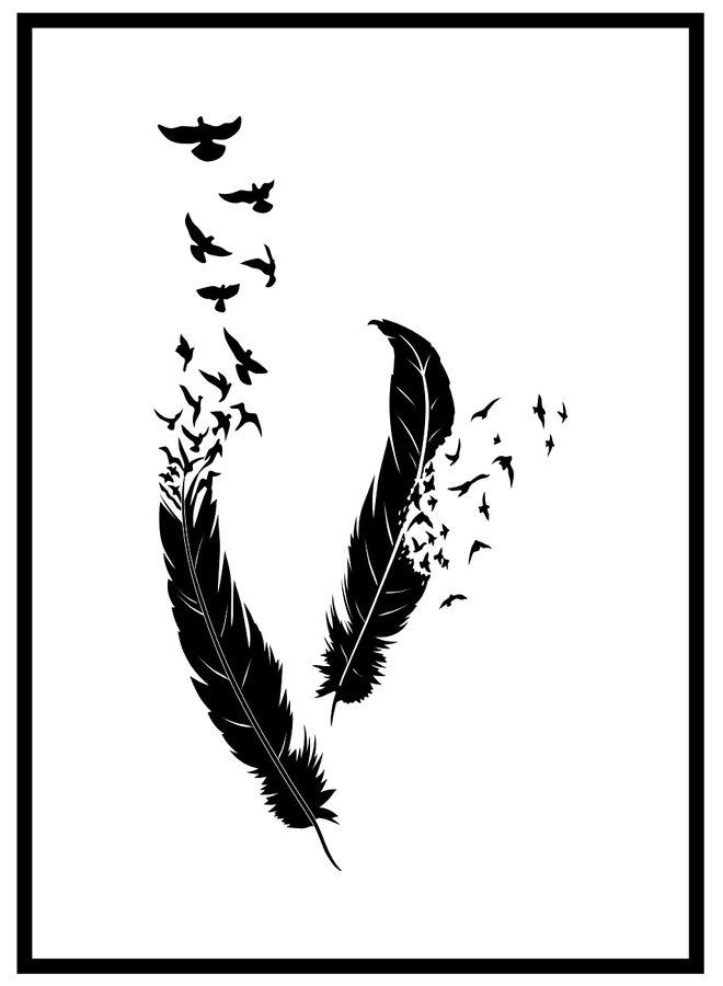 Veren met Vogel Poster