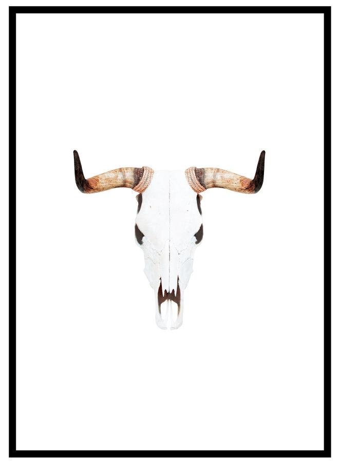 Bohemian Skull Poster