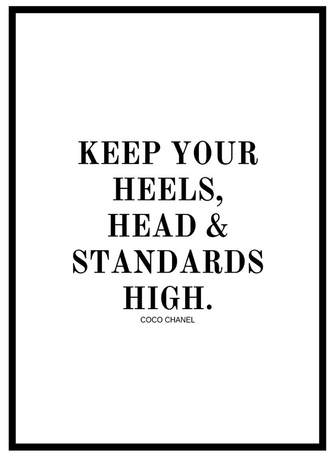 Head Heels and Standards Poster