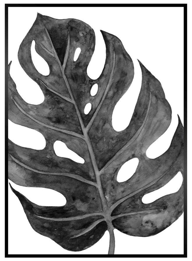 Palmtak Zwart Poster