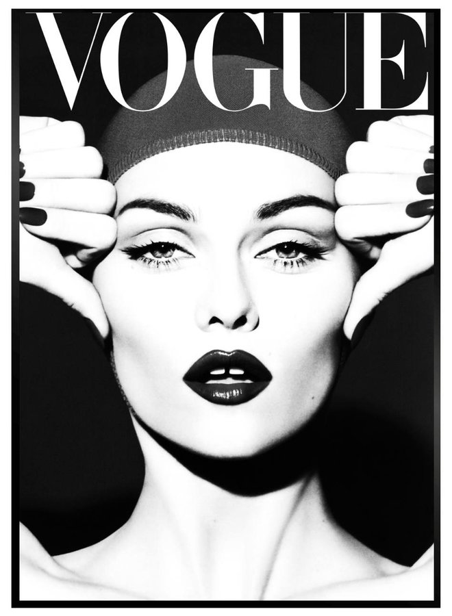 Vogue Zwart Poster