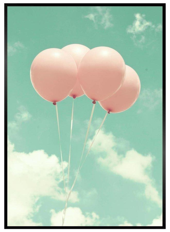 Vintage Ballonnen Poster
