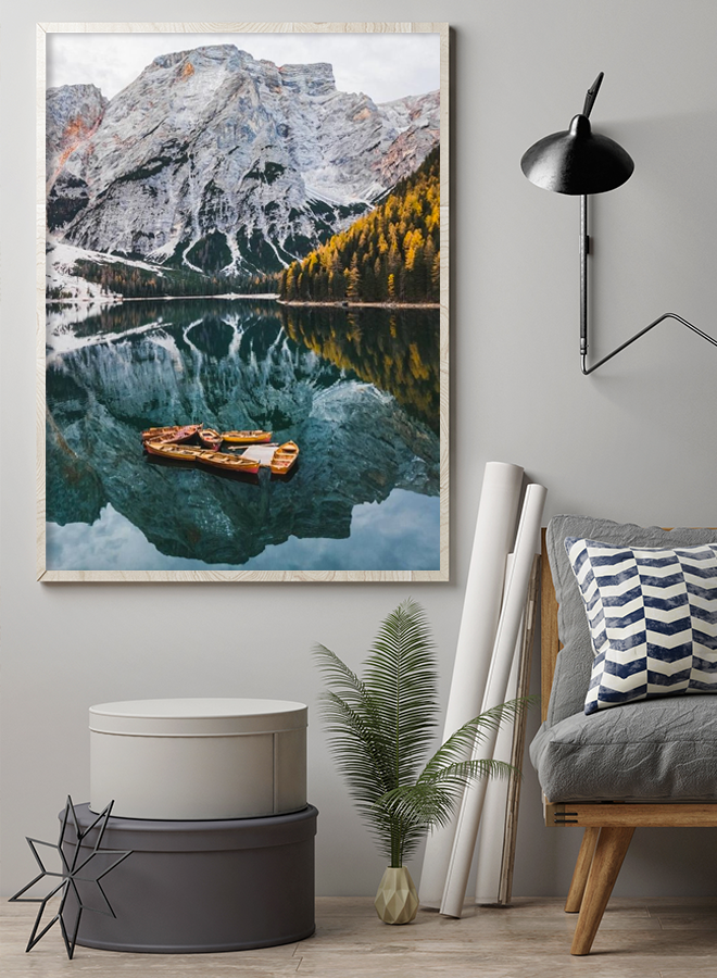 Mountains Forest Water Poster