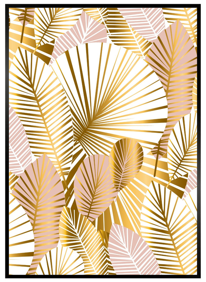 Gouden Planten Print
