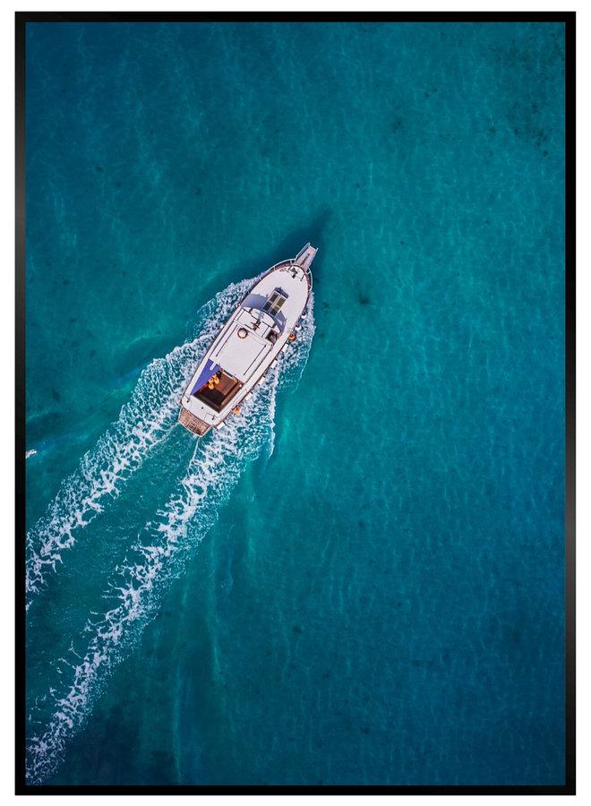 Ocean Boat Poster