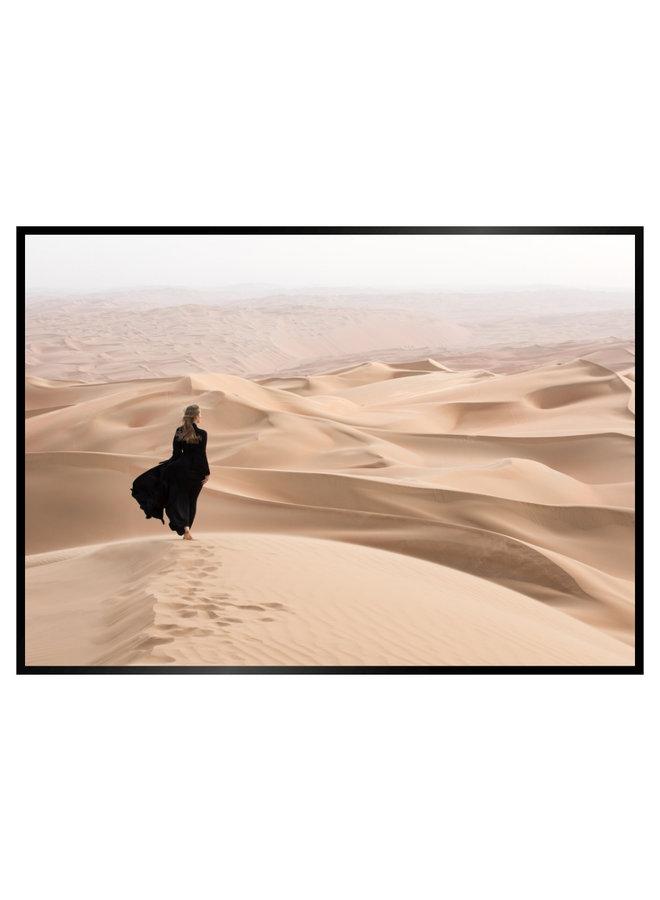 Woman in Desert II Poster