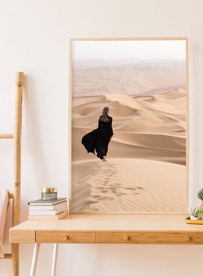 Woman in Desert Poster