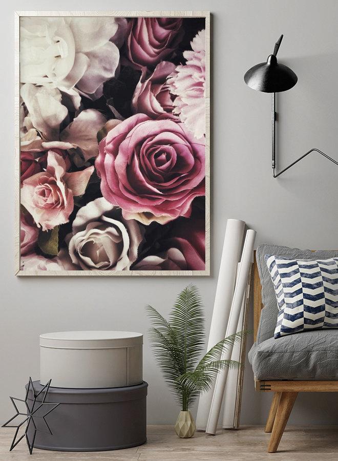 Vintage Roses Pink Poster