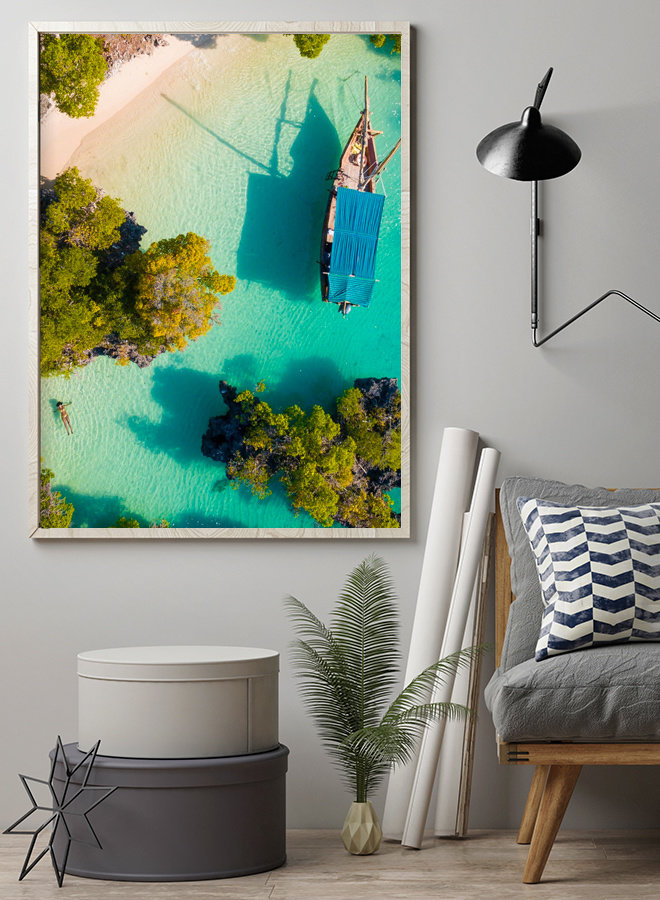 Boat in the Ocean II Poster