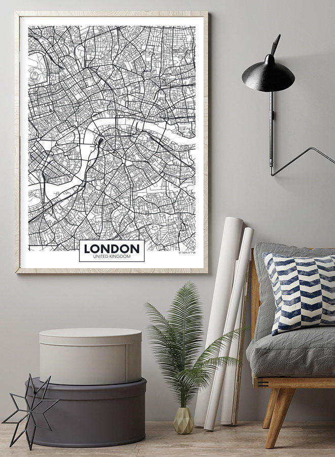 Londen Map Poster