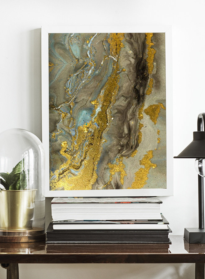 Marble Gold Poster
