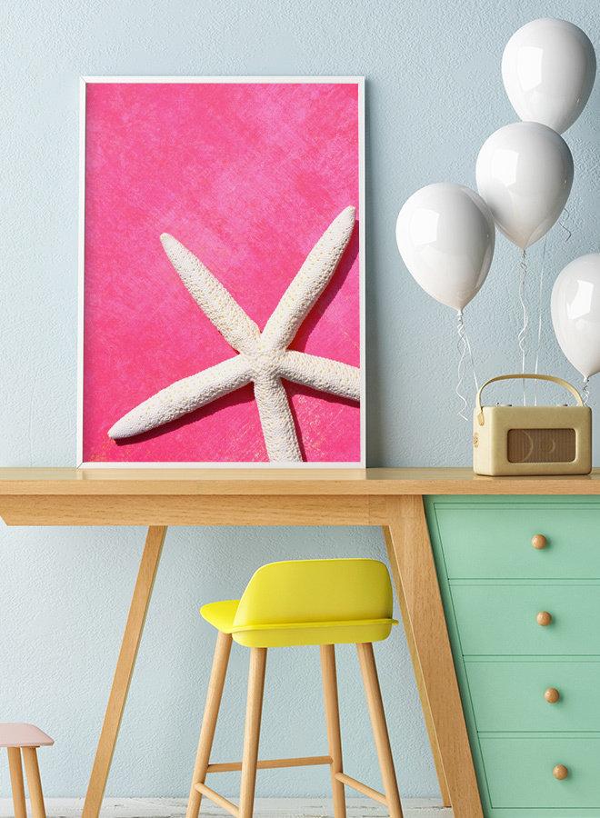 Pink zeester Poster